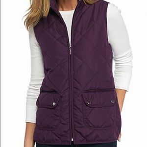 New Directions Weekend Two Pocket Puffer Vest XL